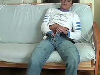Hot Nico rubbing his cock hard